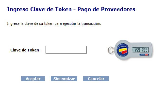 ec72a4f9298 Los usuarios que requieren Token también deberán ingresar la Clave de Token  para realizar